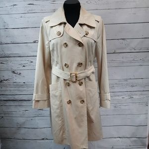 London Fog double breasted trench coat, size L